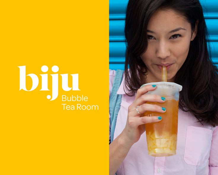 Bubble tea is a milk or fruit drink with chewy toppings that's rapidly become a firm favourite across South East Asia. Biju's aim was simple – to create bubble tea that would appeal to a discerning London audience by using fresh, natural ingredients and putting the emphasis on taste. Brand values were defined around this proposition, and a visual language was created that reflects the