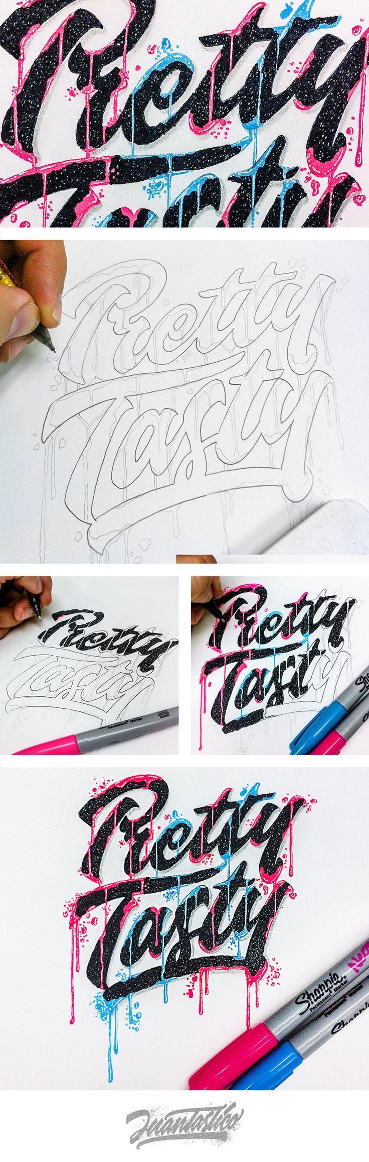 LETTERING DESIGN INSPIRATION... Typography Illustrations #ElJuantastico