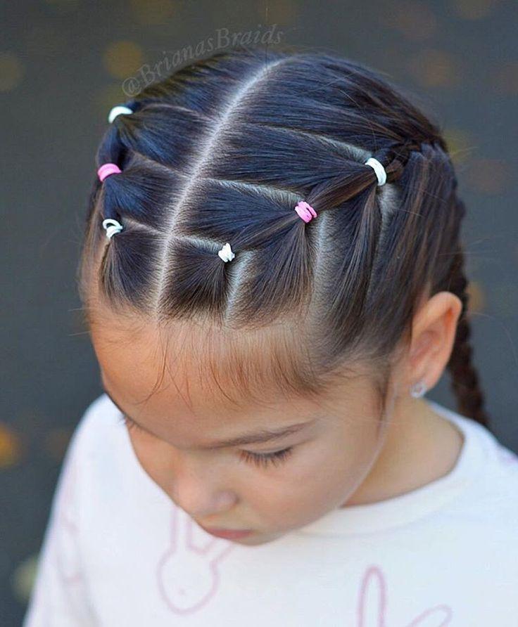 Elastics and French braids for school and gymnastics. Have a great Wednesday! . . . #braids #braidstyles #braidinghair #braiding…