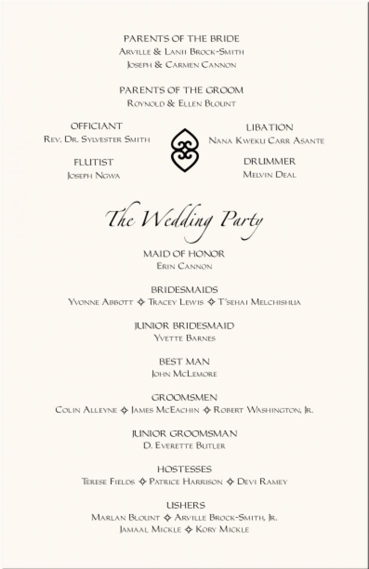 The 25 best Wedding programs wording ideas on Pinterest