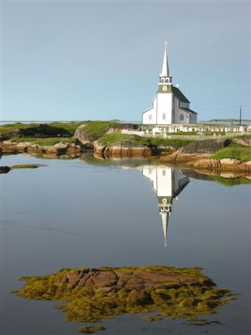 Old Anglican Church in Newtown, Newfoundland, Canada
