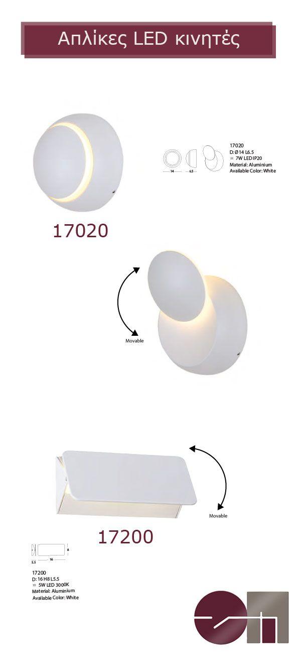 Απλίκες LED με κινητό σκίαστρο για να δημιουργήσετε τον δικό σας φωτισμό και να δώσετε την κατάλληλη κατεύθυνση