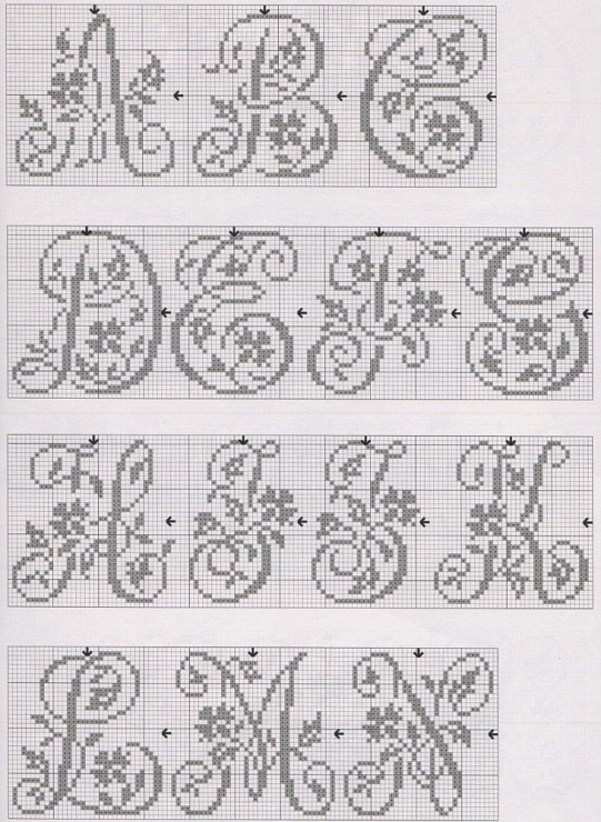 I like the idea of flowers and letters intertwined, inspired by vintage embroidery patterns.