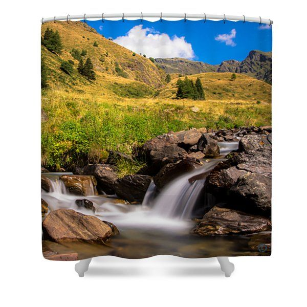 Valle Di Viso - Ponte Di Legno Shower Curtain by Cesare Bargiggia