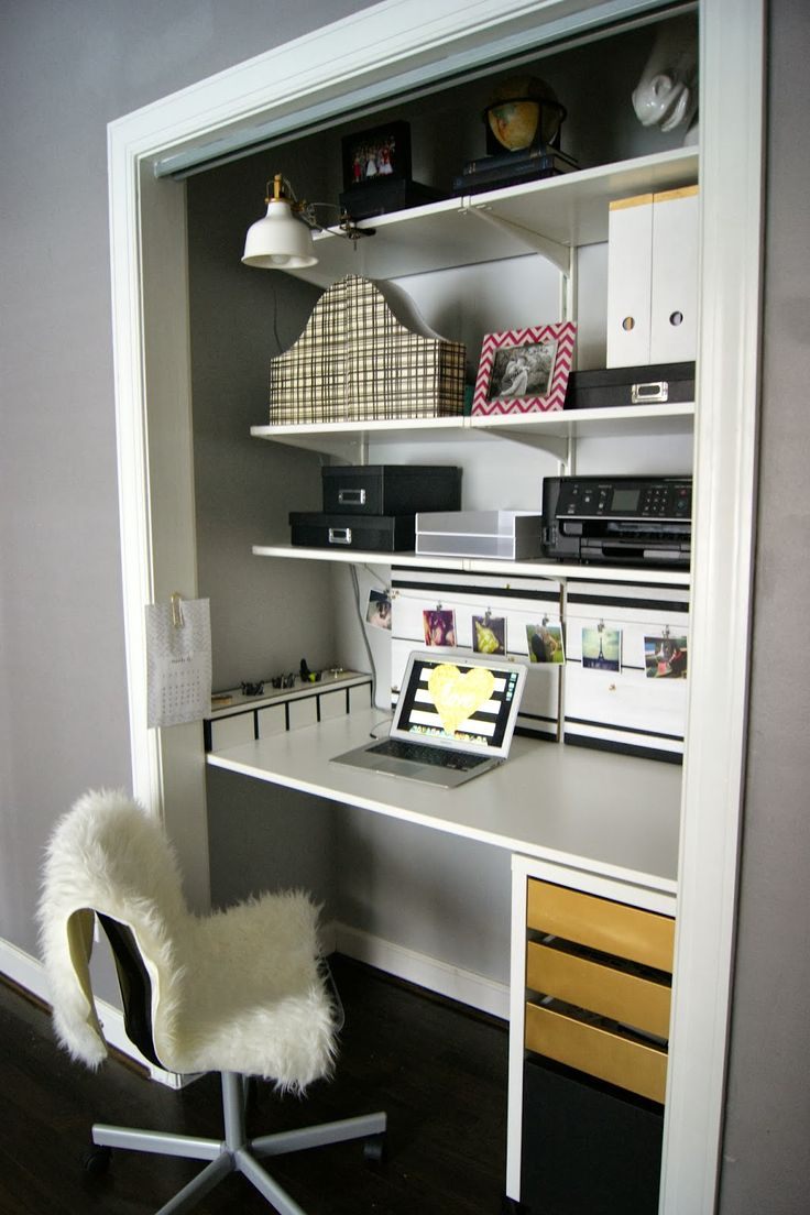 Best 25+ Closet desk ideas on Pinterest | Closet office ...