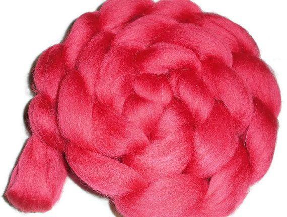"South American Merino Wool Roving - Spinning And Nuno Felting Fiber - ""Dark Roses"""