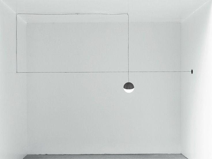 Lampada a sospensione a LED STRING LIGHT - TESTA A SFERA by FLOS | design Michael Anastassiades