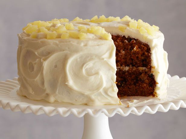 Carrot and Pineapple Cake from FoodNetwork.com. I am always asked to make this cake. It's really good. Cook it 5 to 10 minutes less than called for