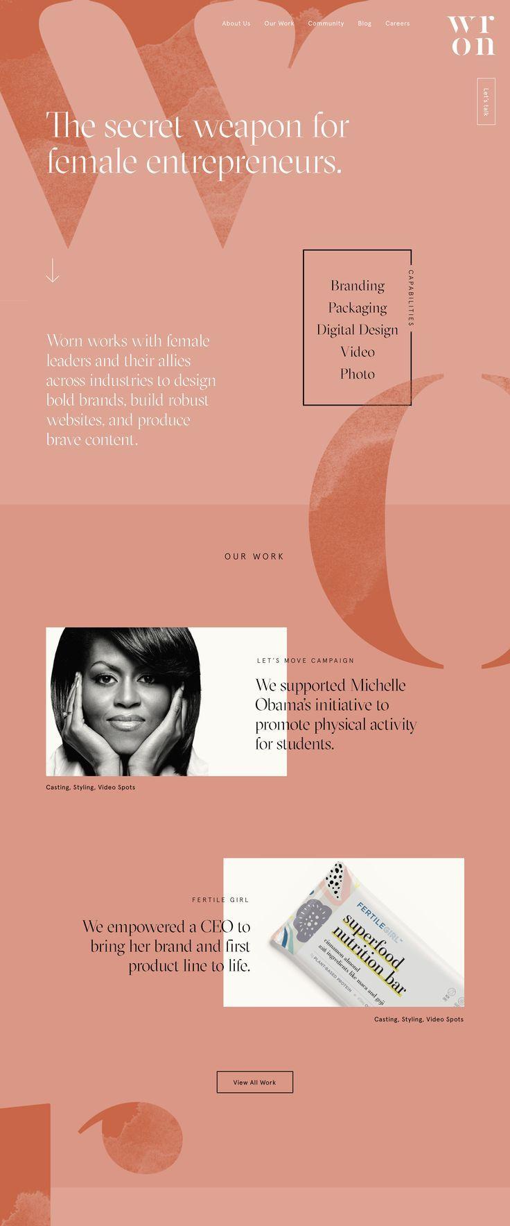 Landing Page Modern Web Design And Website For Female Entrepreneurs Women Empowerment Feminine Modern Web Design Web Design Tips Website Design Inspiration