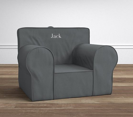 Sofa Sale Charcoal Twill Oversized Anywhere Chair Slipcover Only