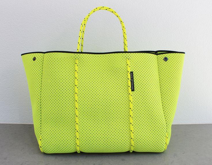 Bright yellow 'Escape' bag