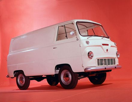 Ford Thames 400E Van. This is what the Transit replaced in 1966. Chalk and cheese!