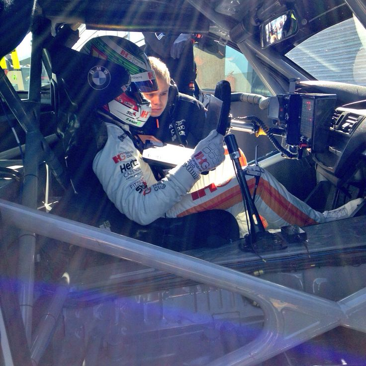 Andy Priaulx in the office