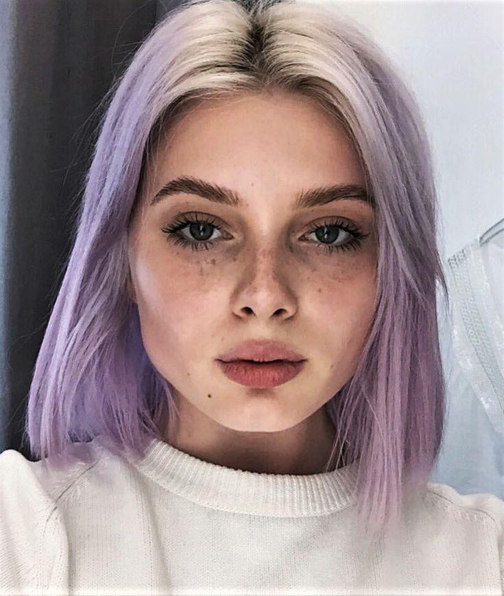Soft ombre lilac hair dye by polusladkoye - #haircolor #hairdye #hairstyle