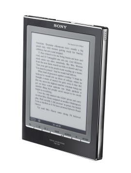 2008 - my 2nd ePaper reader  The Sony PRS 700 seemed like a great reader when I bought it in 2008. It was lighter than my iRex, compatible with multi formats (I could read my library of Mobipocket eBooks, while being able to purchase the newer ePUB format. It had backlighting, which I liked because I liked reading in bed. Trouble was, the backlighting was arranged such that the light always glared, making it difficult to read portions of the screen.