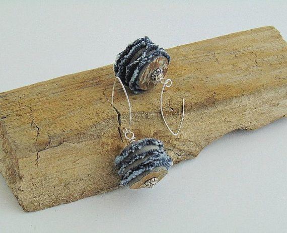 denim earrings denim jewelry collection denim  denim by styledonna