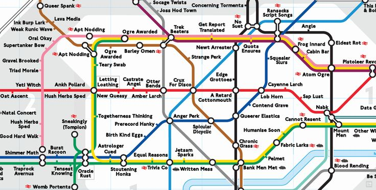 The delightful anagram tube map. | 17 London Underground Maps You Never Knew You Needed
