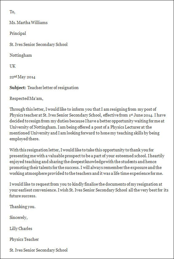 Resignation Template Letter simple letter of resignation template simple letter of resignation template Letter Of Resignation