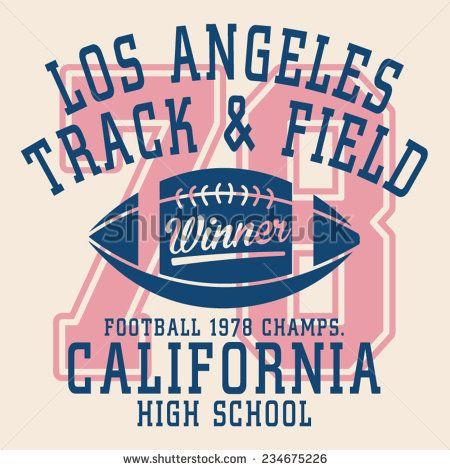College football typography, t-shirt graphics, vectors