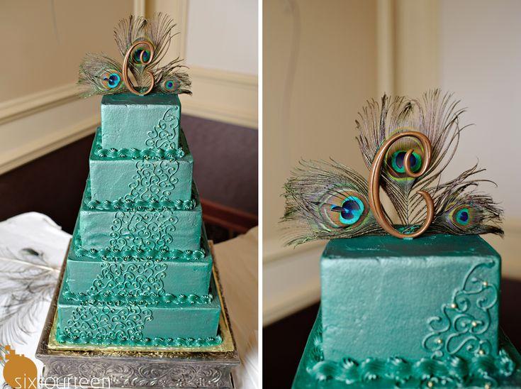 wedding cake! peacock