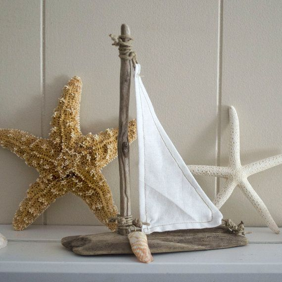 Driftwood sailboat beach house cottage decor how do for Diy driftwood sailboat