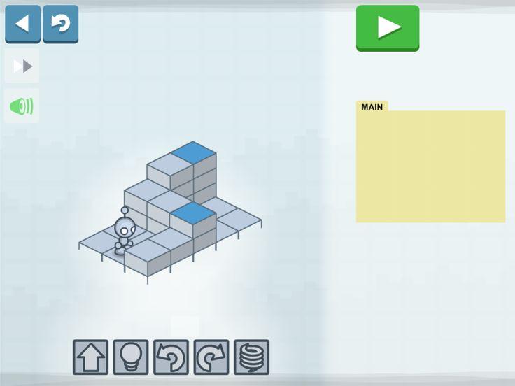 Lightbot-sovellus koodauksen opetteluun.