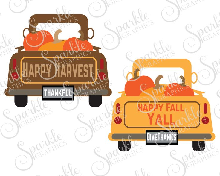 Antique Truck Cut File Fall SVG October SVG Pumpkin Vintage Truck SVG Clipart Svg Dxf Eps Png Silhouette Cricut Cut File Commercial Use by SparkleGraphics16 on Etsy https://www.etsy.com/listing/454646296/antique-truck-cut-file-fall-svg-october