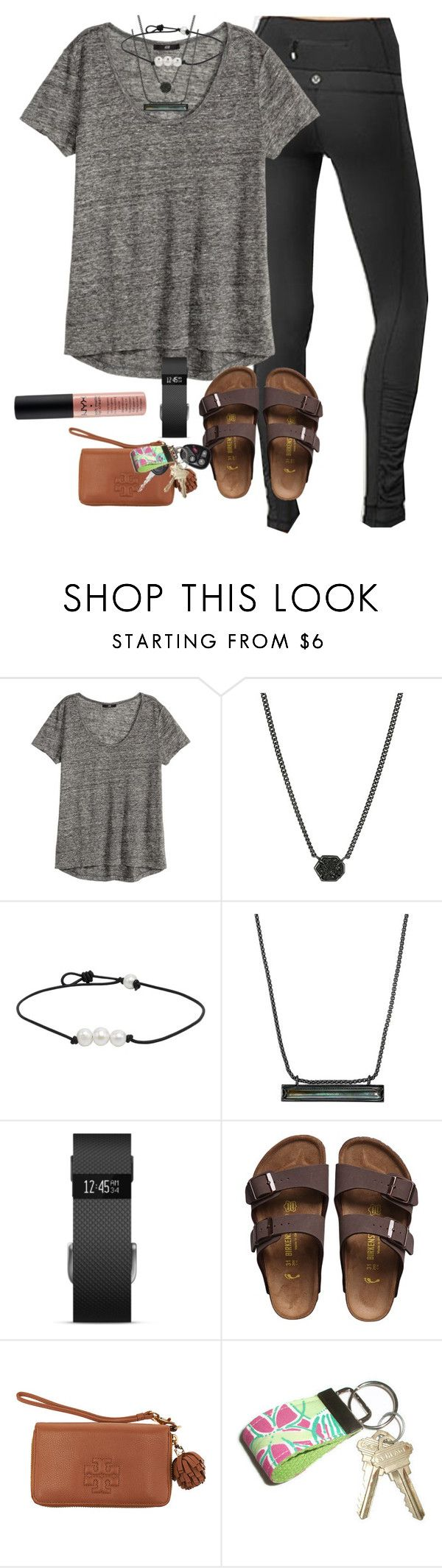 """""""OOY- outfit of yesterday"""" by prep-lover1 ❤ liked on Polyvore featuring lululemon, Kendra Scott, Fitbit, Birkenstock, Tory Burch, Lilly Pulitzer and NYX"""