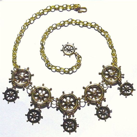 Gold Steampunk Necklace Gear Wheel Steam Punk by tempusfugit, $75.00