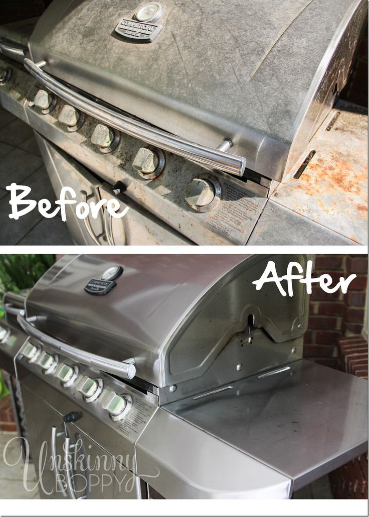 Grill Cleaning Before and After. Great Spring cleaning tips here. #cleaning #tips #grill
