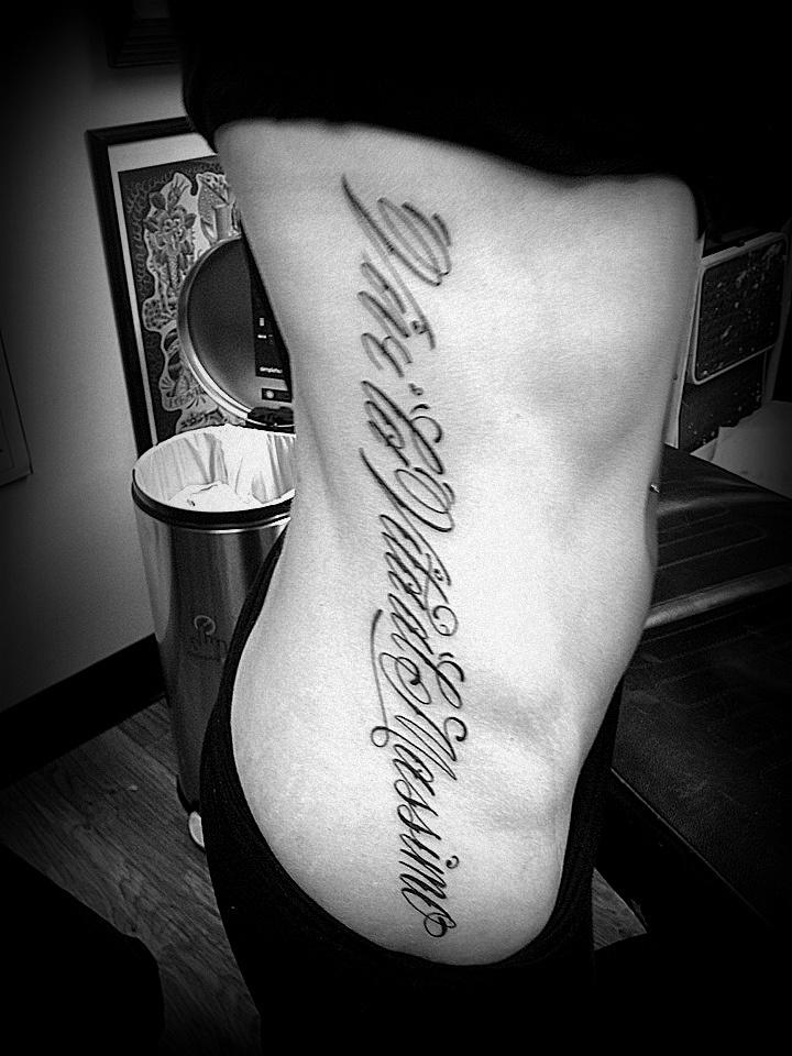 "Italian Tattoo: ""Vivi la vita al Massimo"". Translates in english to ""Live life to the fullest""."