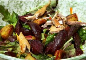 Beetroot, smoked mackerel and horseradishsalad