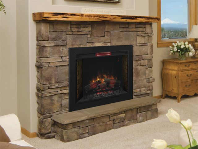Fireplace Description Part - 33: Classic Flame ClassicFlame 33 In SpectraFire Fireplace Insert U0026 Flush Mount  Conversion Kit - For Sale