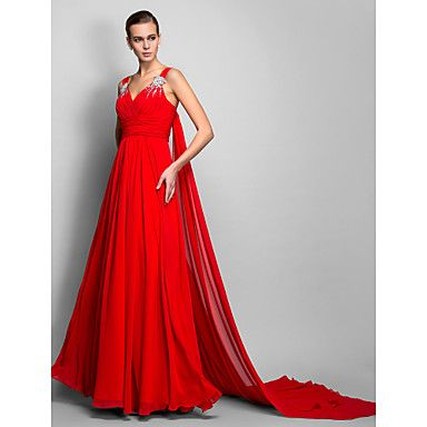 Dress+-+Ruby+Plus+Sizes+/+Petite+A-line+/+Princess+Straps+Floor-length+Chiffon+–+USD+$+129.99