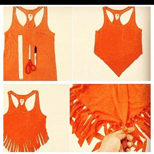 DIY shirt/ longer shirt for coverup  Add beads? ooh (: