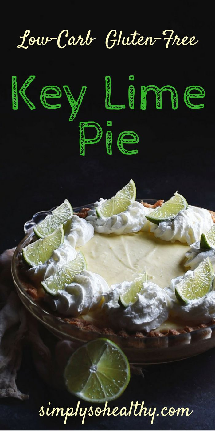 This Low-Carb Key Lime Pie recipe makes a delicious version of a classic dessert. This pie can work for those on a low-carb, Atkins, LC/HF, gluten-free, or Banting diet.