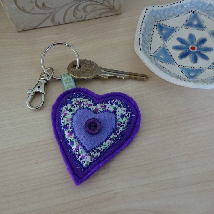 A personal favourite from my Etsy shop https://www.etsy.com/uk/listing/491945924/purple-heart-keyring-blue-heart-keychain