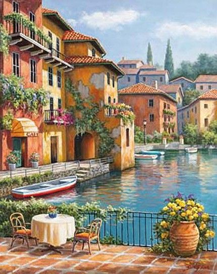Terrace On The Canal ~ Sung Kim