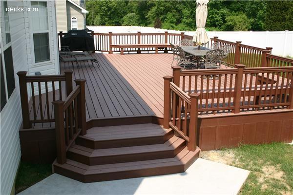 18 best Decks images on Pinterest  Backyard deck designs Backyard ideas and Cover design