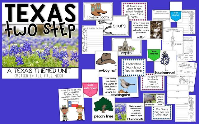 All Y'all Need: Texas Two Step-Texas Themed Speech and Language Unit! Pinned by SOS Inc. Resources. Follow all our boards at pinterest.com/sostherapy/ for therapy resources.