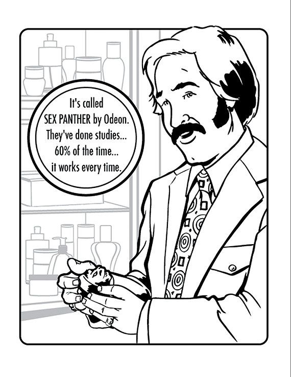 Good Thrill Murray Coloring Book 80 The Unofficial ANCHORMAN Legend
