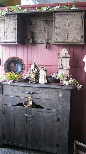 25 Best Ideas About Primitive Cabinets On Pinterest Farmhouse Ladles Prim