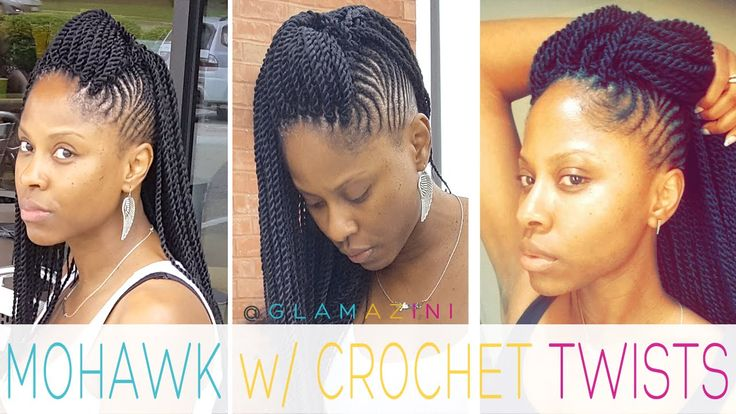 Cornrow Mohawk w/ Crochet Senegalese Twists • @glamazini