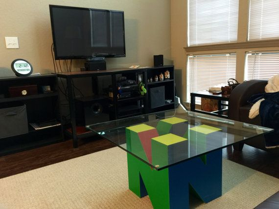 a nintendo 64 shaped and inspired bottom base for a coffee