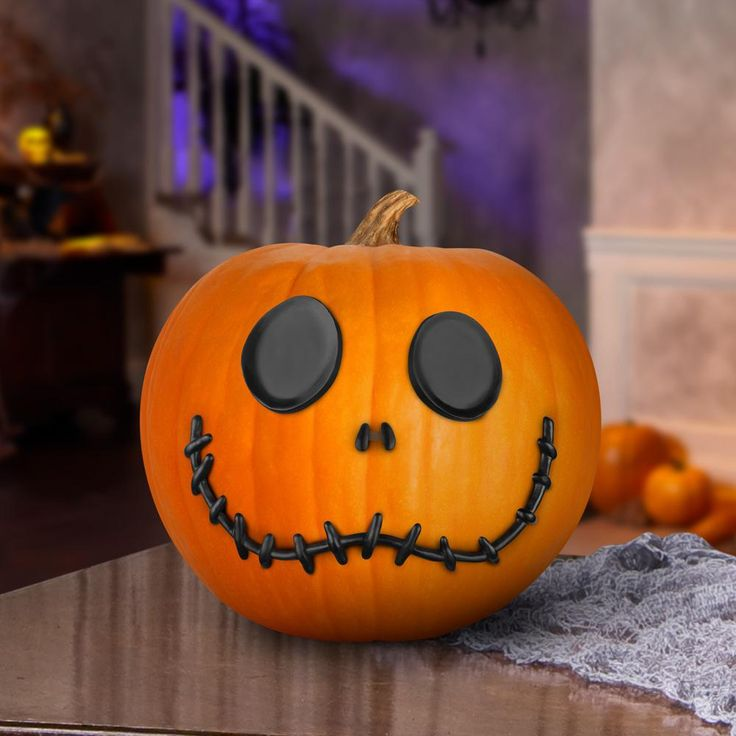6.89 In. Pumpkin Push Ins-Jack Skellington-74711