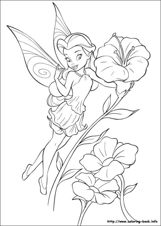 Tinkerbell coloring picture
