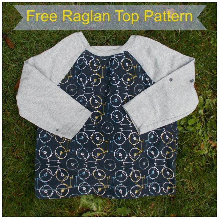 Raglan Top for kids, free pattern