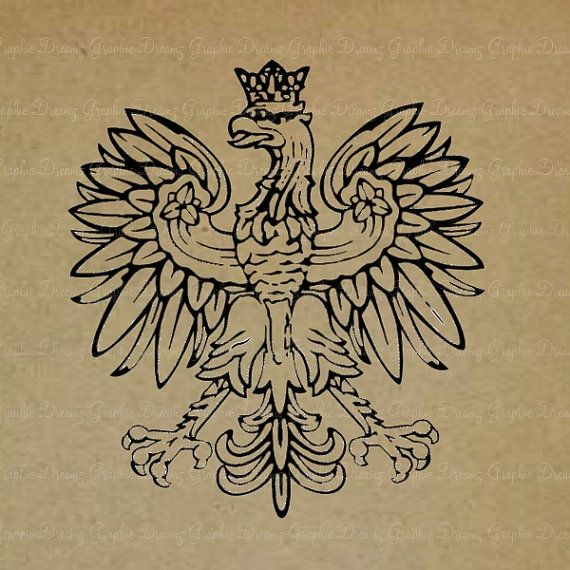 INSTANT DOWNLOAD  No.KM1110  Polish Eagle  by GraphicDreamz, £1.99