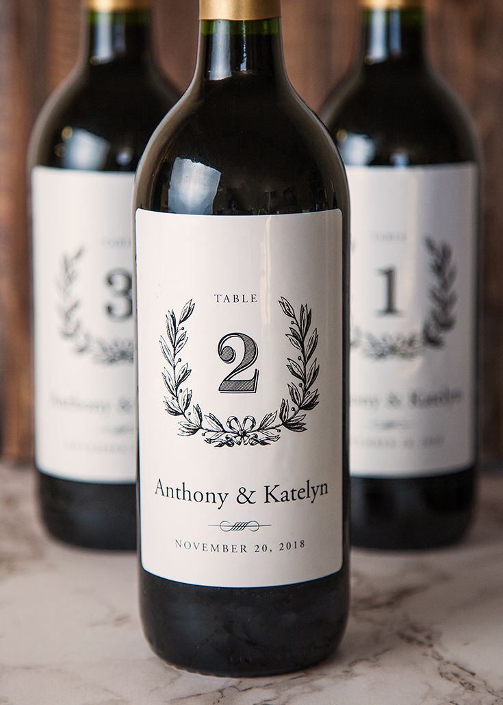 wine table numbers give an extra personalized appeal to your wedding