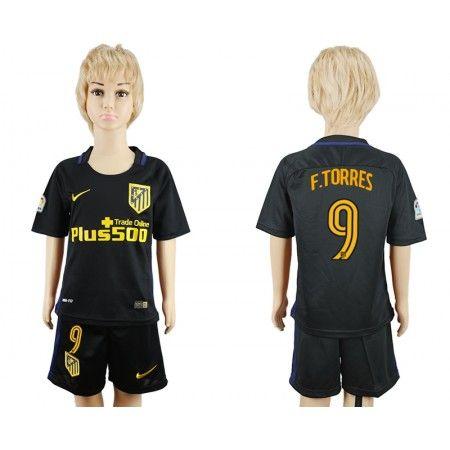 Atletico Madrid Fotbollskläder Barn 16-17 #Fernando Torres 9 Bortatröja Kortärmad,248,15KR,shirtshopservice@gmail.com